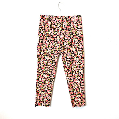 6397 Pink Perfect Floral Pants- Front