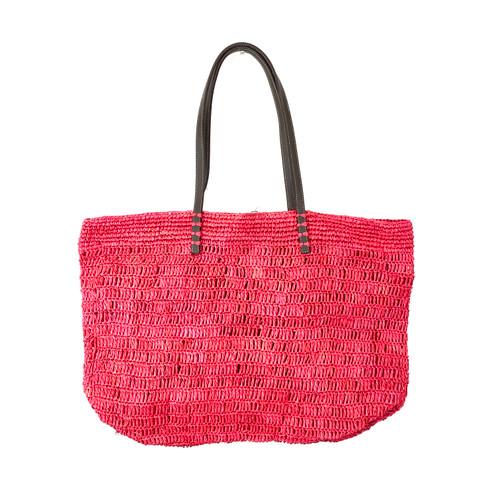 Cherry Woven Oversized Shopper- Front