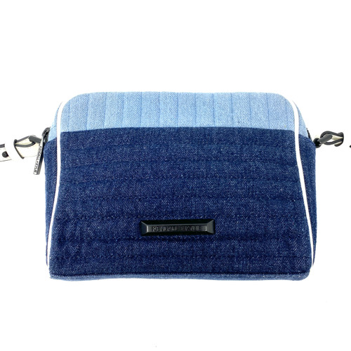 Kendall + Kylie Quilted Denim Crossbody Bag- Front