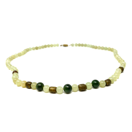 Green Gemstone Beaded Necklace- Detail 1