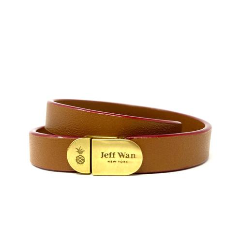 Jeff Wan Brown Double Tour Bracelet- Thumbnail