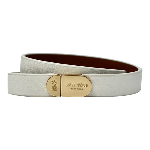 Jeff Wan White Double Tour Bracelet- Thumbnail