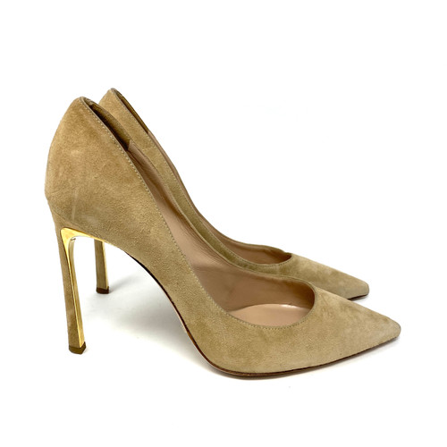 Sebastian Taupe Suede Pumps- Right