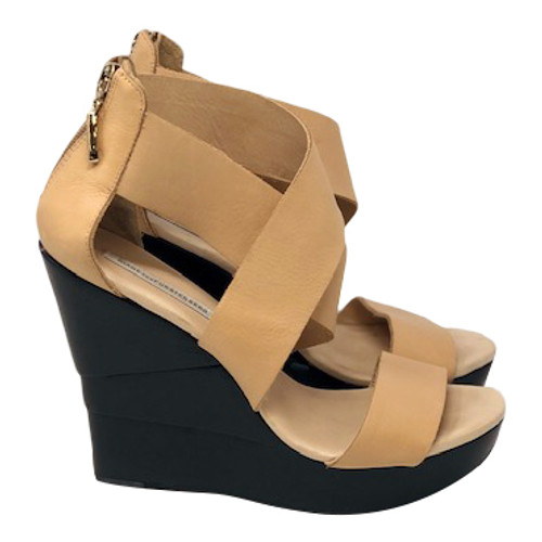 Diane von Furstenburg Platform Wedge Sandals-Right