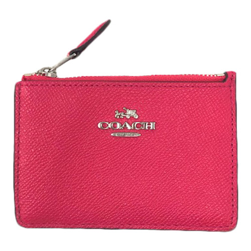 Coach Pebbled Leather Card Case-Front