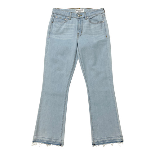 Derek Lam 10 Crosby Gia Mid-Rise Cropped Flare Jeans- Front