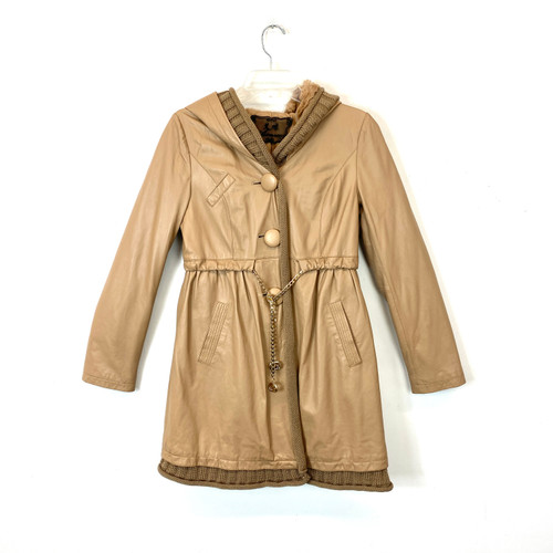 Aimee Leather and Knit Anorak- Front
