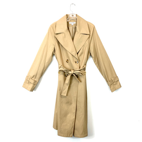 Via Spiga Double Breasted Trench Coat- Front