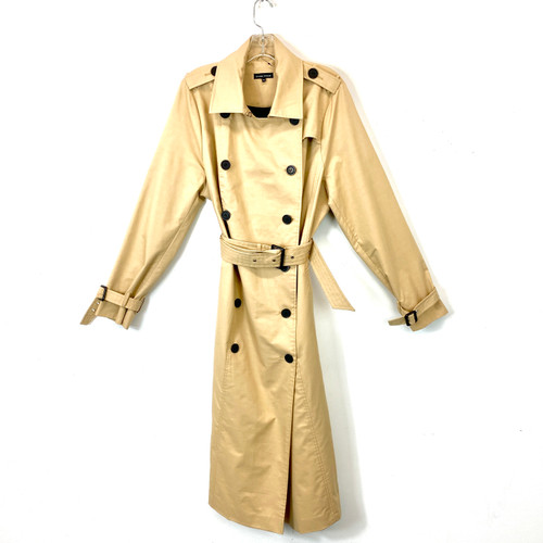 Universal Standard Long Double Breasted Trench Coat- Front