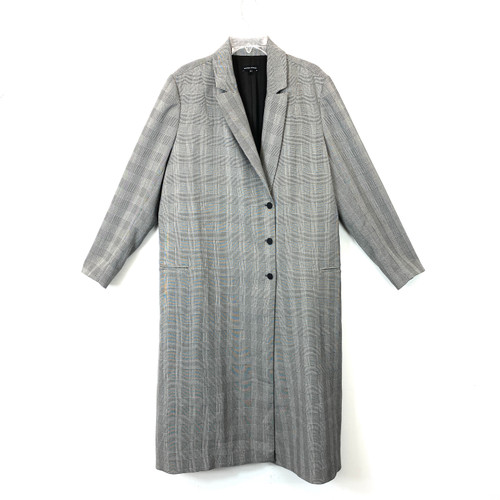 Universal Standard Single Breasted Checked Coat- Front