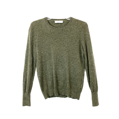 Everlane Forest Cashmere Crew Neck- Front