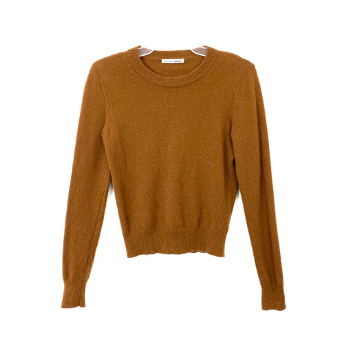 Reformation Cropped Cashmere Sweater- Front