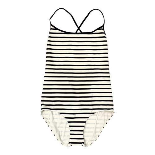 COS White Stripe Scoop Neck Swimsuit- Front