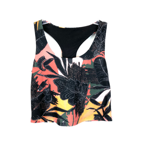 Betsey Johnson Front to Back Crop Tank- Front
