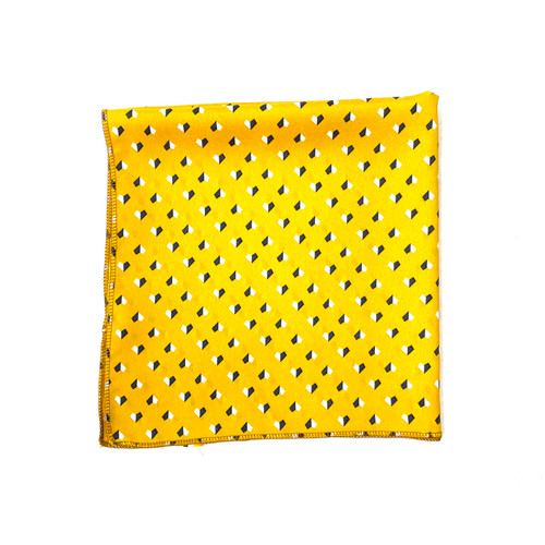 Vintage Geometric Print Pocket Square- Front
