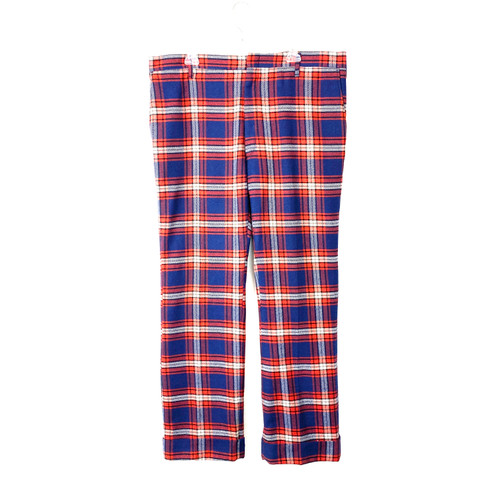 Vintage Red and Blue Plaid Trousers- Front