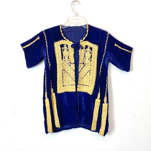 Vintage Embroidered Velour Jacket- Front