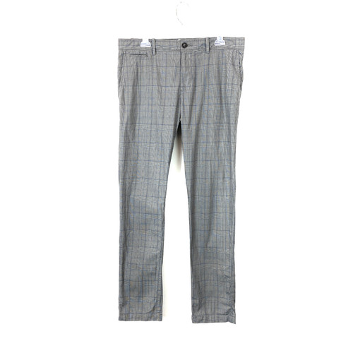 Penguin Plaid Tapered Trousers- Front