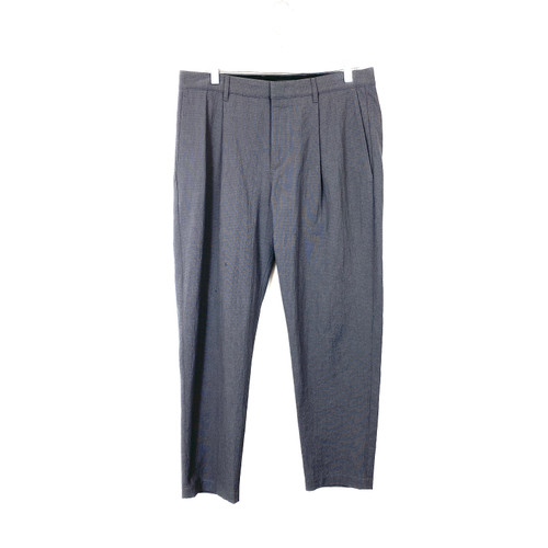Theory Textured Tapered Pleated Pants- Front