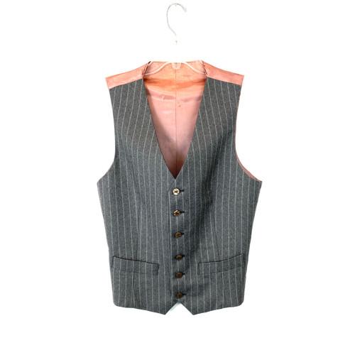 Vintage Wool Pinstriped Vest- Front