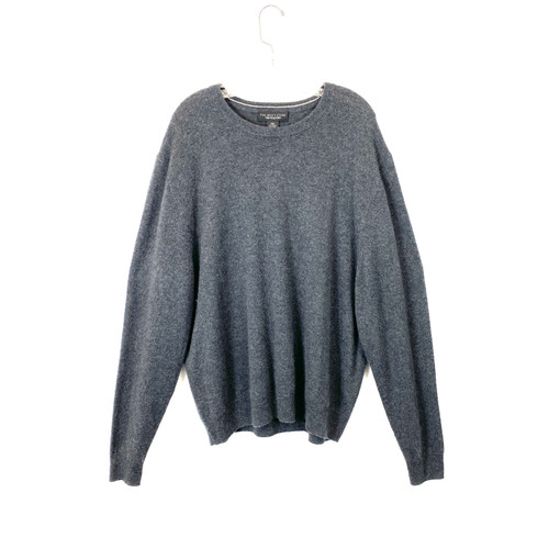 Bloomingdales Coal Cashmere Pullover- Front