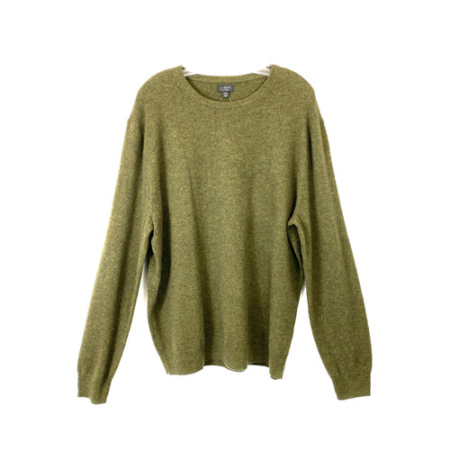 J. Crew Forest Cashmere Pullover- Front