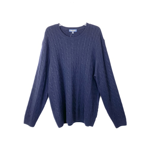 Brooks Brothers Cashmere Cable Knit Sweater- Front