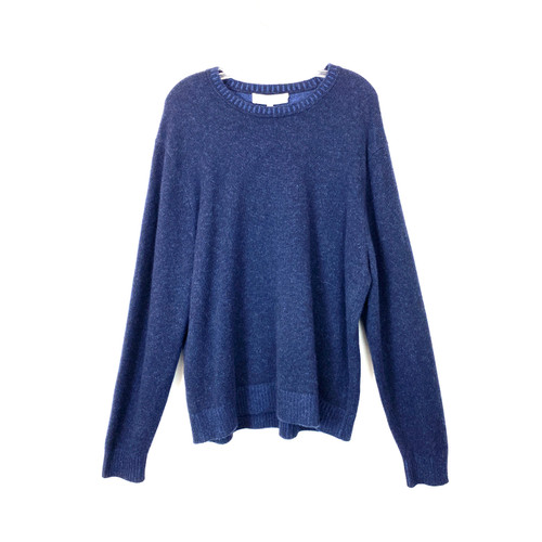 Neiman Marcus Heathered Cashmere Pullover- Front
