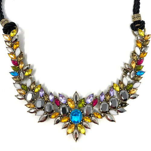 Joan Rivers Corded Strand Rhinestone Necklace- Detail