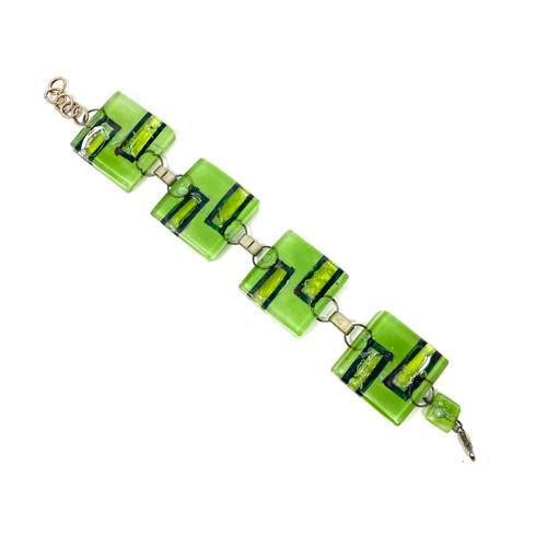 Mint Candy Modernist Bracelet- Front