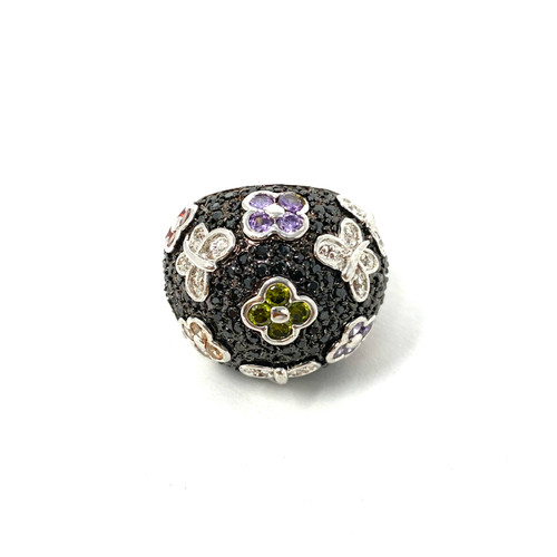 Pave Butterflies Dome Ring- Front