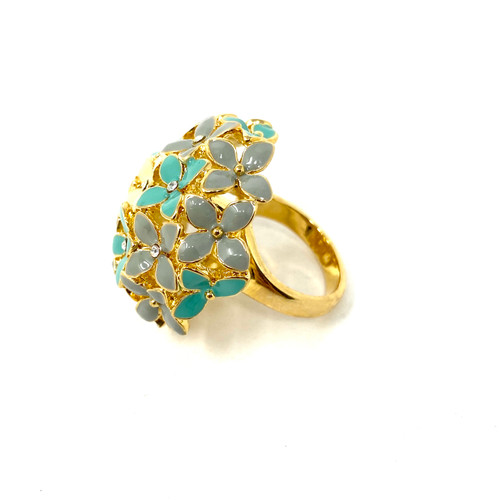 Dimensional Dome Flower RingDimensional Dome Flower Ring- Side One