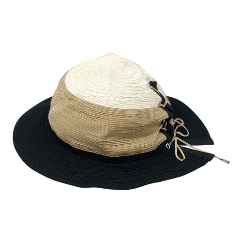 Abigail Aldridge Tricolor Sun Hat- Side One