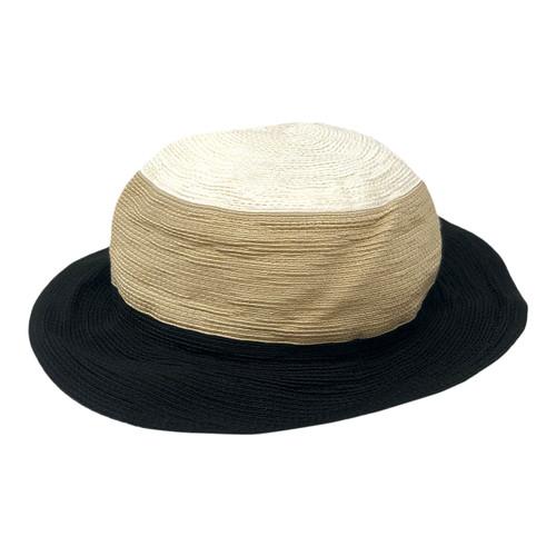 Abigail Aldridge Tricolor Sun Hat- Front