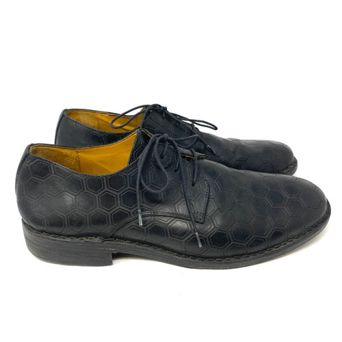 Diesel Black Gold Hexagon Lace Up Shoes- Right