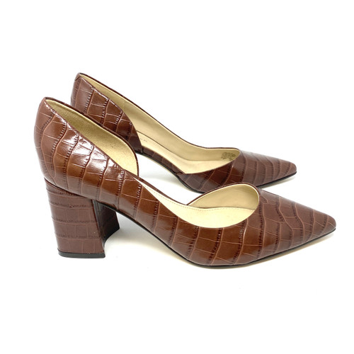 Marc Fisher Croc Pattern D' Orsay Pumps- Right