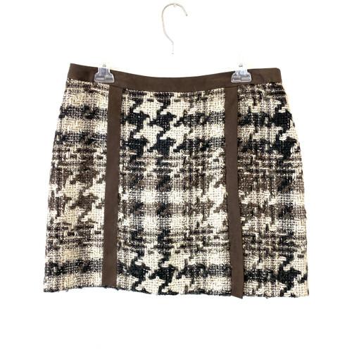 Tracy Reese Herringbone Mini Skirt- Front