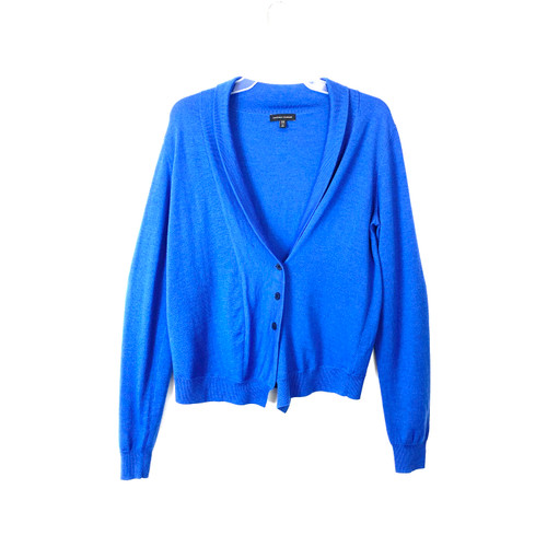 Universal Standard Teal Wool Curve Cardigan- Front