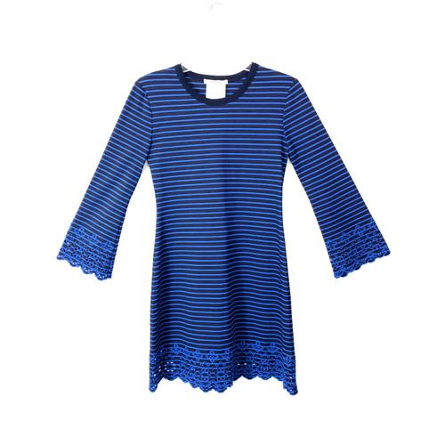 Derek Lam 10 Crosby Striped Ponte Knit Dress- Front