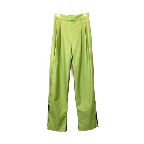 Diane von Furstenberg High Waisted Pleated Pants- Front