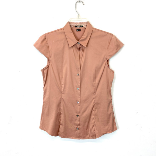 Theory Cap Sleeve Blouse- Front