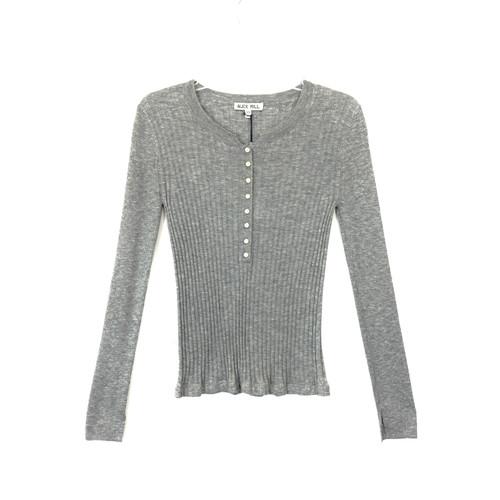 Alex Mill Wool Blend Henley Sweater- Front