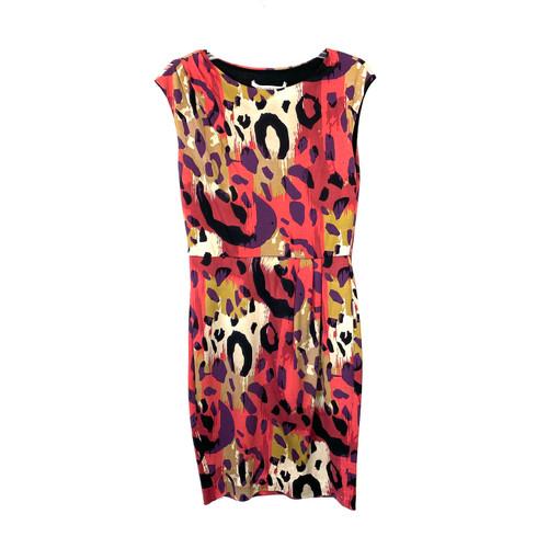 Diane von Furstenberg Cap Sleeve Silk Dress- Front