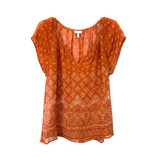 Joie Gilliane Short Sleeve Silk Blouse- Front