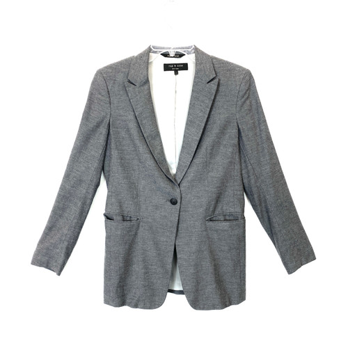 Rag & Bone Charcoal Blazer- Front