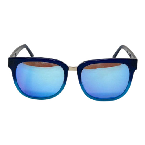 Colors in Optics by Sanford Hutton Reflective Wayfarer Sunglasses- Front