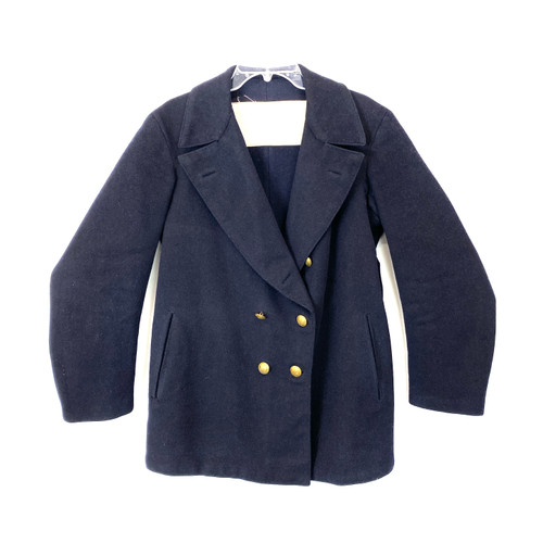 Vintage 1950's Naval Double Breasted Peacoat- Front