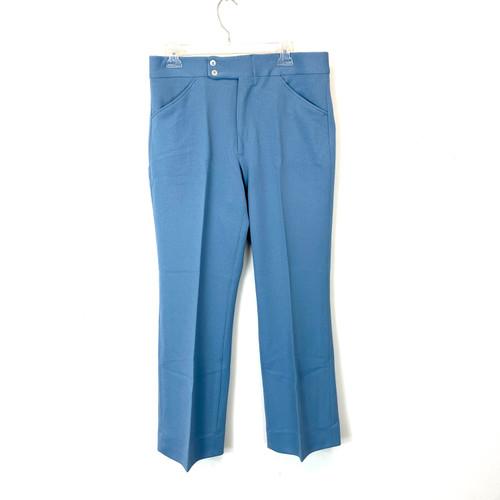 Vintage 1970's Patterned Straight Leg Pants- Front