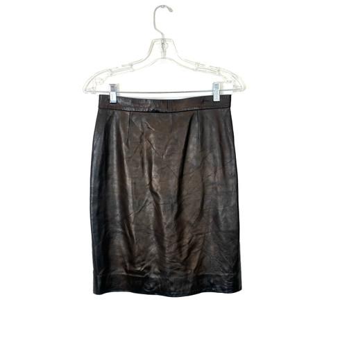Vintage Leather Pencil Skirt- Front