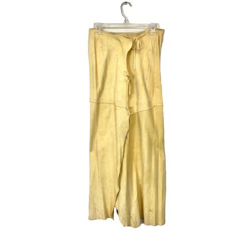 Vintage Patchwork Wrap Maxi Skirt- Front